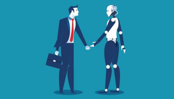Human banker and robo banker need to learn how to work together to serve human consumers.