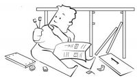 Ikea instructions typically lack words, relying on pictures instead. Is this you with an Ikea kit?